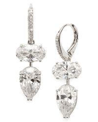 Nadri | Metallic 'celeste' Crystal Drop Earrings - Rhodium | Lyst