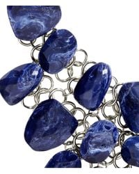 H&M - Blue Large Necklace - Lyst