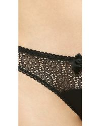 Stella McCartney - Natural Clementina Twinkling Thong - Black/Camel - Lyst