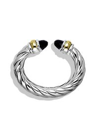 David Yurman | Black Waverly Bracelet With Gold, 25mm | Lyst