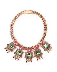Mawi | Multicolor Geometric Crystal Necklace | Lyst