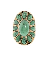 Aurelie Bidermann | Green Natural Stone Ring | Lyst