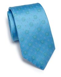 Eton of Sweden | Blue Floral Silk Tie for Men | Lyst