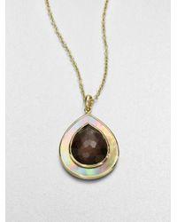 Ippolita - Metallic Smokey Quartz Brown Shell Pendant Necklace - Lyst