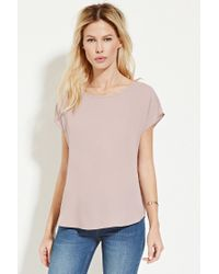Forever 21 | Purple Cap-sleeve Top | Lyst