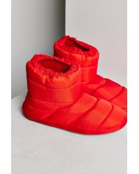 Urban Outfitters - Red Nylon Bootie Slipper - Lyst