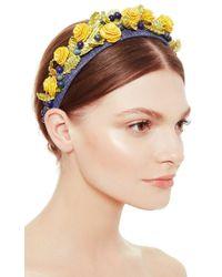 Masterpeace | Blue Field Flower Headband | Lyst