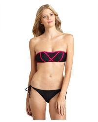 Brette Sandler Swimwear - Black Molly Bandeau Bikini - Lyst