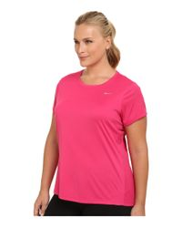 Nike - Pink Dri-fit™ Extended Miler Short Sleeve Top - Lyst