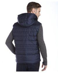 Marc New York - Blue Indigo Quilted 'decker' Down Filled Hooded Vest for Men - Lyst