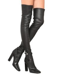 Emilio Pucci - Black 120mm Stretch Nappa Leather Boots - Lyst