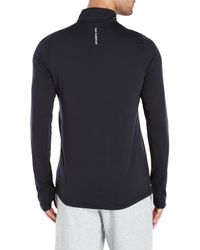 New Balance | Black Impact Half-Zip Shirt for Men | Lyst