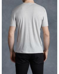 John Varvatos | Gray Pintuck V-neck for Men | Lyst