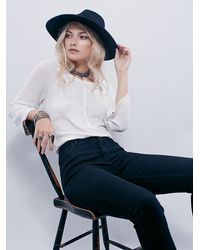Free People | White Denise's Henley | Lyst