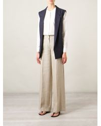 Theory | Natural Laleenka Cropped Crepe Flared Pants | Lyst