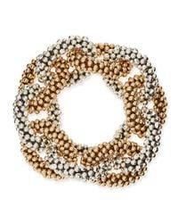 Meredith Frederick | Metallic Meredith Frederick Elsa 14K Gold And Sterling Silver Link Bracelet | Lyst