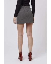 TOPSHOP | Black Petite Stripe Mini Skirt | Lyst