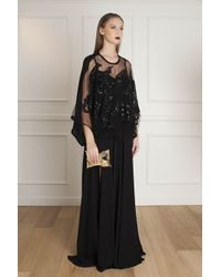 Elie Saab - Black Floral-lace Blouse - For Women - Lyst