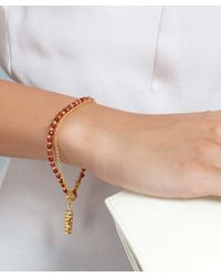 Astley Clarke | Metallic Gold-plated Agate Double Happiness Biography White Sapphire Bracelet | Lyst