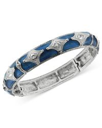 2028 | Blue Silver-tone And Sapphire Enamel Bracelet | Lyst