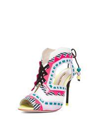 Sophia Webster - Black Riko Stripe Leather Heels - Lyst