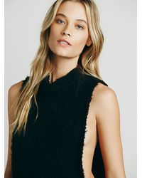 Free People | Black Womens Side Wrap Mockneck | Lyst