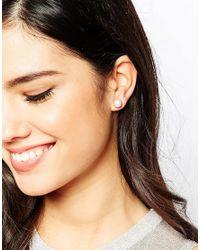 Krystal   White Swarovski Crystal Stud Earrings Two Pair Set   Lyst