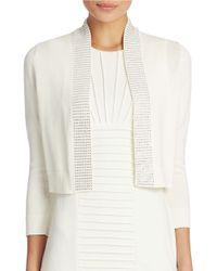 Calvin Klein | White Rhinestone Embellished Shrug | Lyst