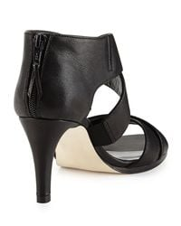 Stuart Weitzman - Black Hugme Leather Crisscross Sandal - Lyst