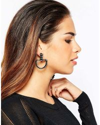 ASOS | Black Statement Mismatch Shapes Earrings | Lyst