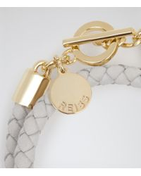 Reiss | White Toucan Leather And Metal Bracelet | Lyst