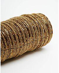 ASOS | Metallic Bead Fringe Cuff Bracelet | Lyst