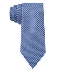 Calvin Klein | Blue Silk Check Tie for Men | Lyst