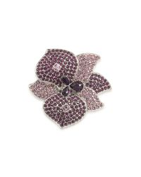 Carolee | Metallic Crystal Flower Pin | Lyst