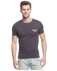 Armani Jeans | Gray Logo T-shirt for Men | Lyst