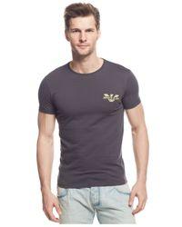 Armani Jeans | Gray Logo T-shirt for Men | Lyst