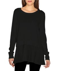 Catherine Malandrino | Black Alix Layered-effect Cotton And Modal Top | Lyst