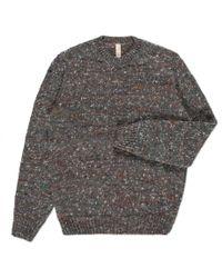 Paul Smith - Gray Men's Grey Alpaca-silk Blend Flecked Knitted Sweater for Men - Lyst
