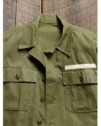 Free People - Green Womens Vintage 1960S Army Jacket - Lyst