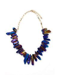 Nasty Gal | Black Crystal Galaxy Necklace | Lyst