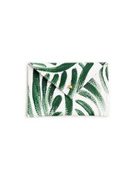 r-ki-tekt - Multicolor Palm Frond Leather Envelope - Lyst