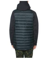 Nike - Black Bimaterial Jacket With Hoodie for Men - Lyst