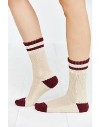 Urban Outfitters | Purple Striped Slouchy Crew Sock | Lyst