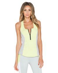 Alo Yoga - Yellow Playa Tank - Lyst