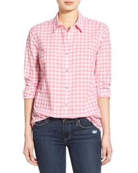 Vineyard Vines - Pink Gingham Button Front Shirt - Lyst