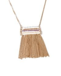 Forever 21 - Metallic Beaded Fringe Necklace - Lyst