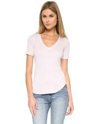 Splendid | Multicolor 1x1 V Neck T-shirt | Lyst