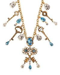 Dolce & Gabbana - Metallic Key Charms Necklace - Lyst