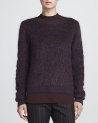 A.L.C. - Purple Halls Fuzzy Knit Sweater Xsmall - Lyst