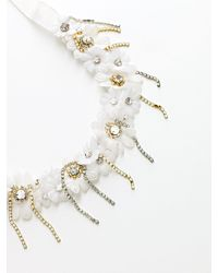 Patrizia Pepe | White Costume Jewellery Necklace With Hand Embroidery | Lyst